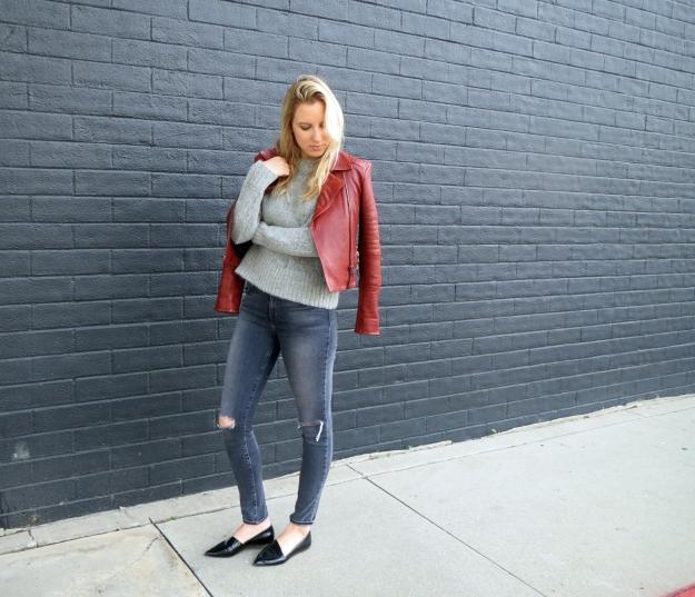 j brand leather